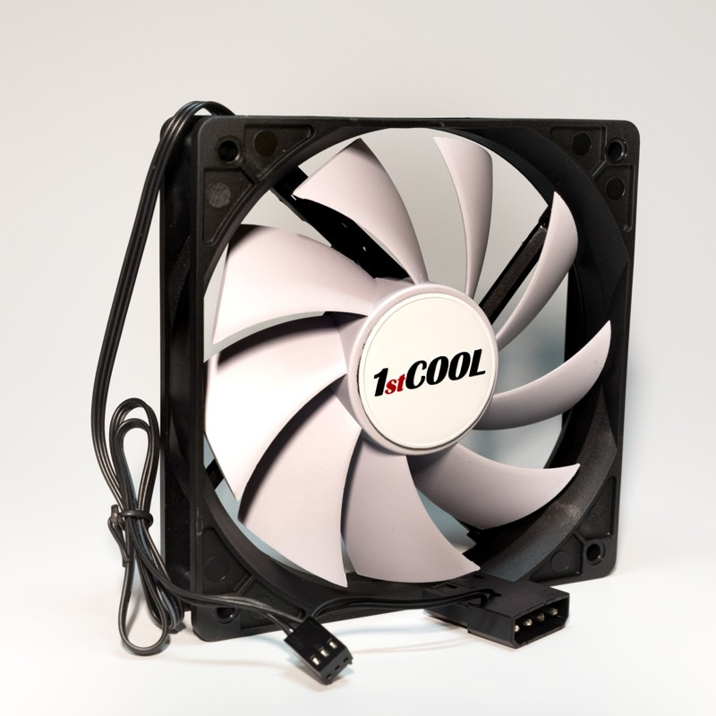1stCOOL SILENT 12CM FAN Black/White
