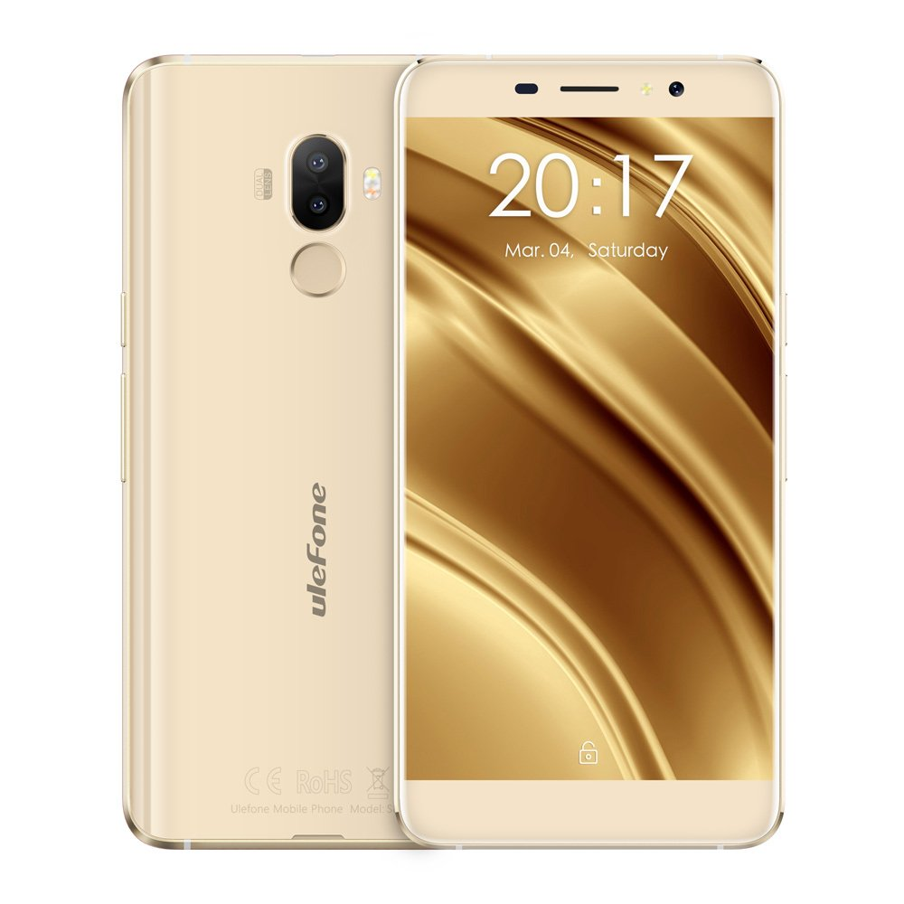 "ECP UleFone smartphone S8 Pro 5.3"" Gold 2/16GB Android 7 dual cam. + sil.cover"