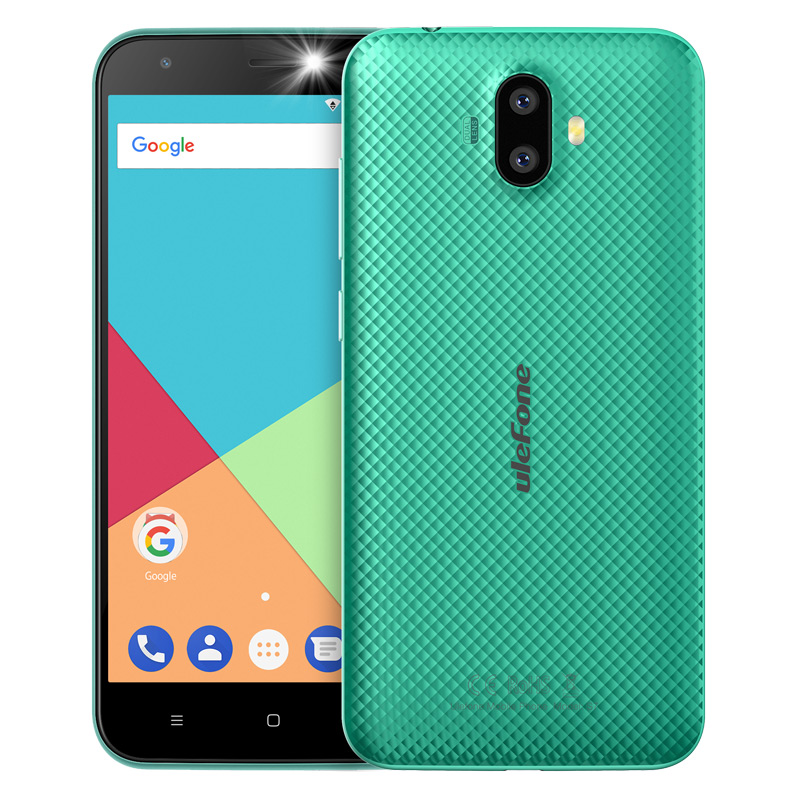 "ECP UleFone smartphone S7  5"" Green Android 7 dual camera"