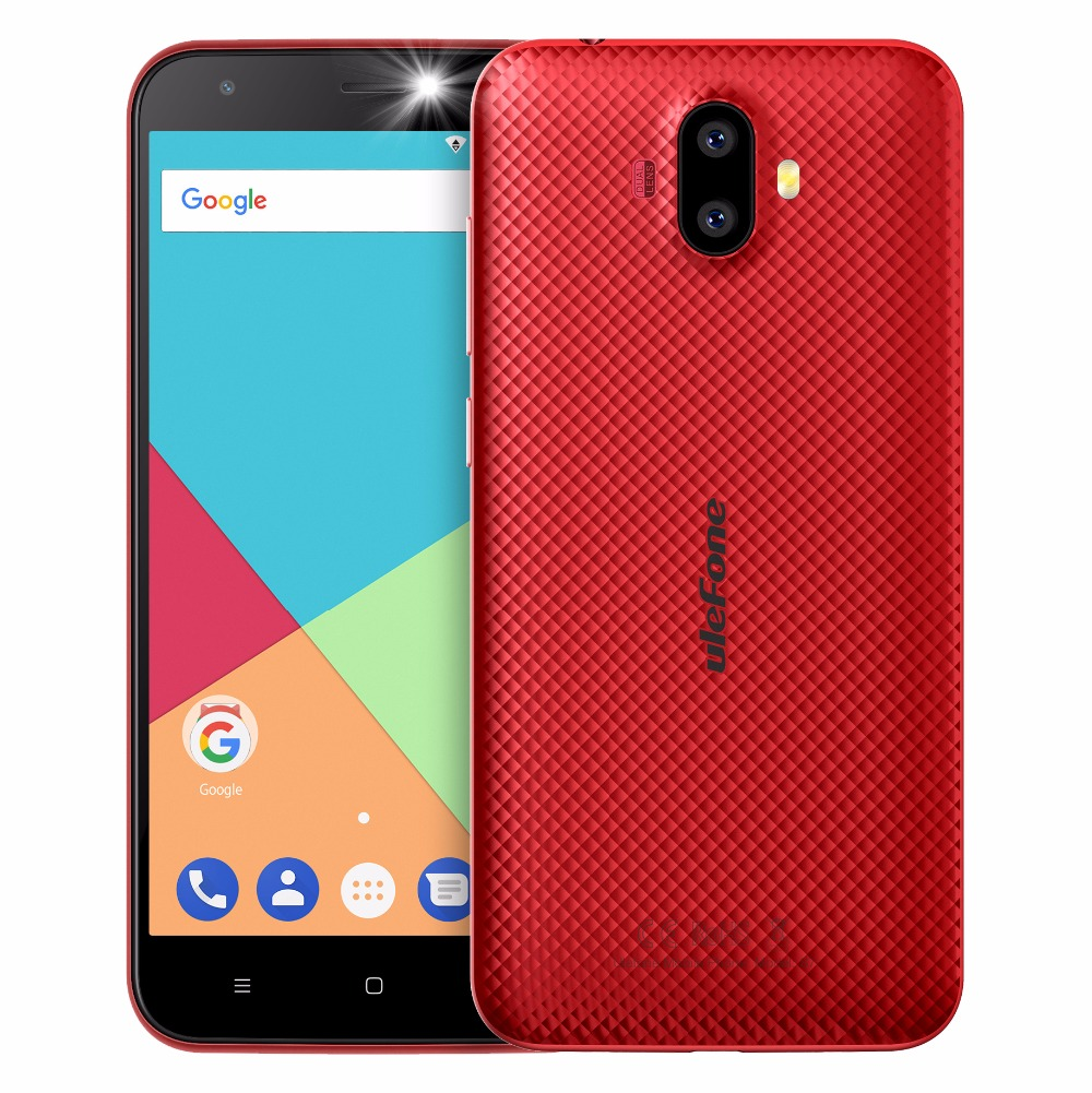 "ECP UleFone smartphone S7  5"" Red Android 7 dual camera"