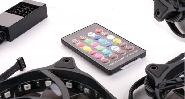 1stCOOL Fan KIT2, 3*RAINBOW RGB Fan 12cm + Driver + Remote Control