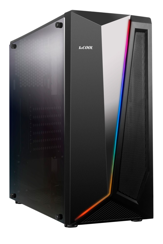 1stCOOL MiddleTower RAINBOW 2, AU, USB3.0, RGB LED strip