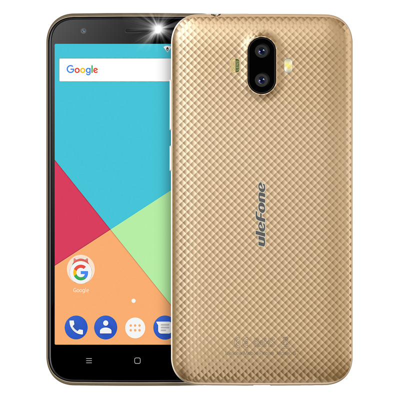 "ECP UleFone smartphone S7  5"" Gold Android 7 dual camera"