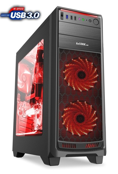 1stCOOL FullTower GAMER 1, AU, USB3.0